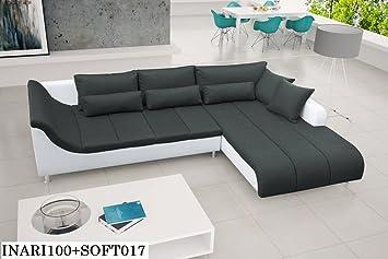 AXE Sofá esquinero, acolchado, sin espacio para dormir, sofá ...