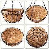 Amagabeli 4 Pack Metal Hanging Planter Basket