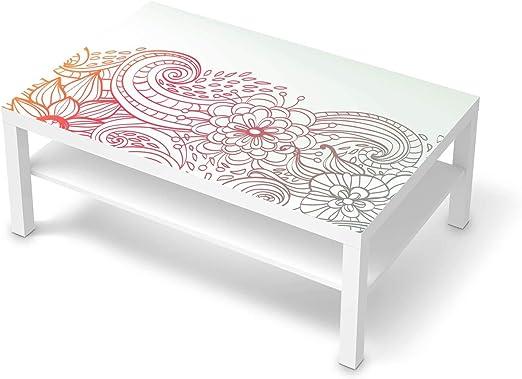 creatisto Wandtattoo Möbel passend für IKEA Lack Tisch 118x78 cm I Möbeldeko Möbel Sticker Aufkleber Folie I Innendekoration für Schlafzimmer und