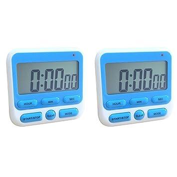 Vococal-2pcs Reloj de Cocina Digital Temporizador de Cuenta Regresiva Cuenta Regresiva Reloj con Pantalla