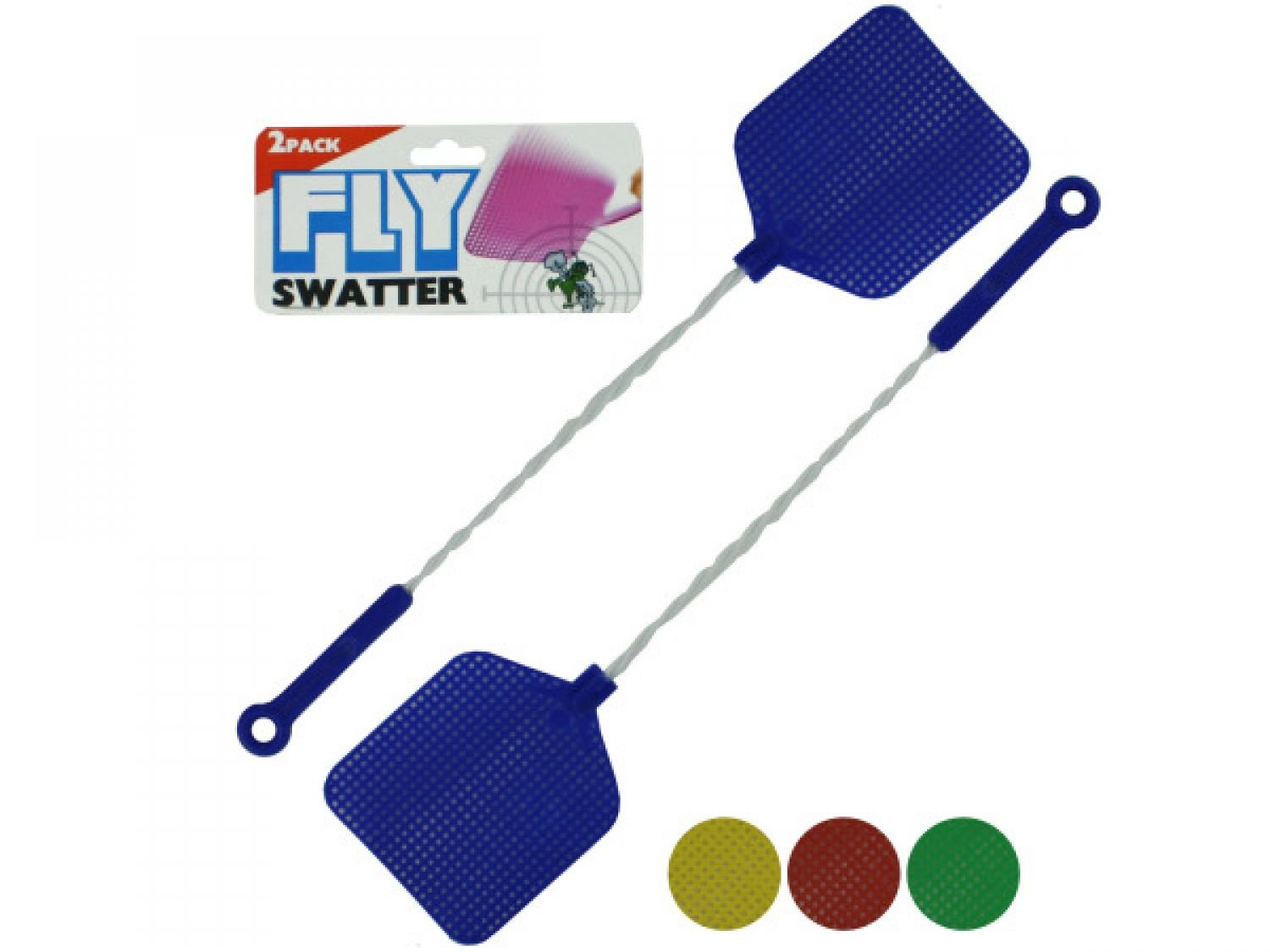 bulk buys Fly Swatters With Wire Handles - Set of 72, [Household Supplies, Pest Control]