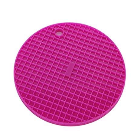HIGOGOGO Bright Color Big Round Placemats For Table Heat Insulation  Stain Resistant Kitchen Placemat For