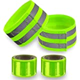 Reflective Bands for Wrist, Arm, Ankle, Leg. High Visibility Reflective Gear for Night Walking, Cycling and Running…