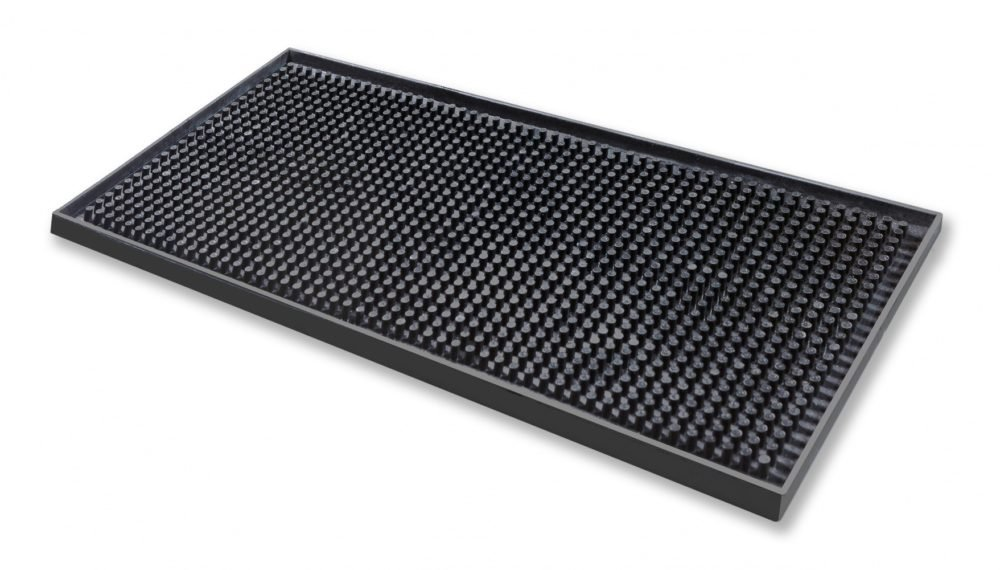Beaumont 3629 Black Rubber Bar Mat 15x30cm Barprofessional