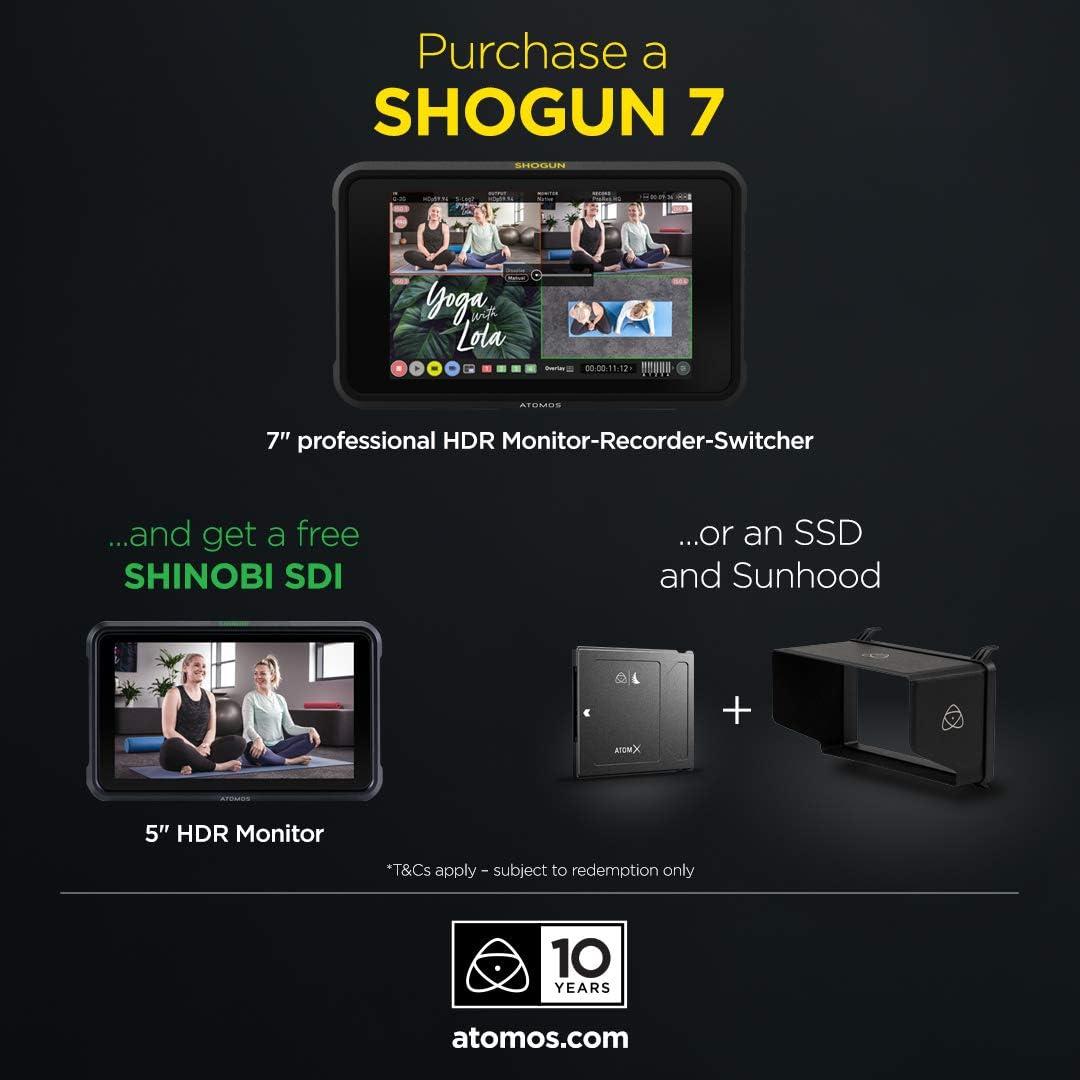 Atomos Shogun 7 HDR Pro//Cinema Monitor-Recorder-Switcher 10th Birthday Special
