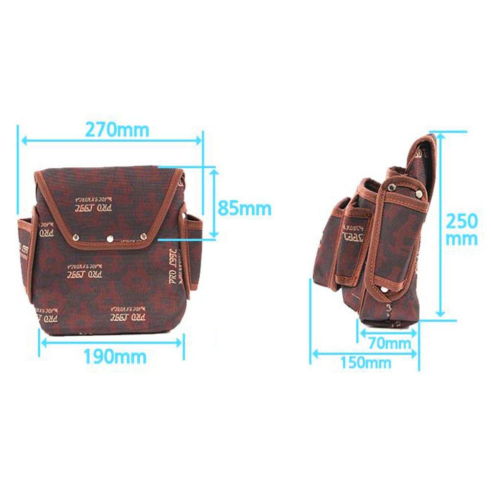 HWGLOBAL Electrician Maintenance Carpenter Tool Pouch Bag Technician's Tool Holder Work Organizer Framer's Tool Belt Pouch by HW GLOBAL (Image #2)
