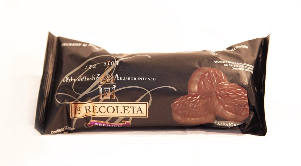 Mini Alfajores rellenos de dulce de leche y Bañados en chocolate negro LA RECOLETA: Amazon.es: Alimentación y bebidas