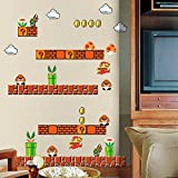 HomeEvolution Giant Super Mario Build a Scene Peel and Stick Wall Decals Stickers for Kids Boys Nursery Wall Art Room Decor