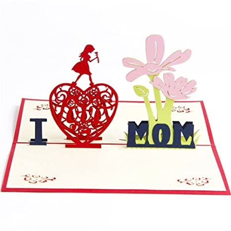 Amazon Com Sodial Pop Up Thank You Mom Thanksgiving Cards For Mom