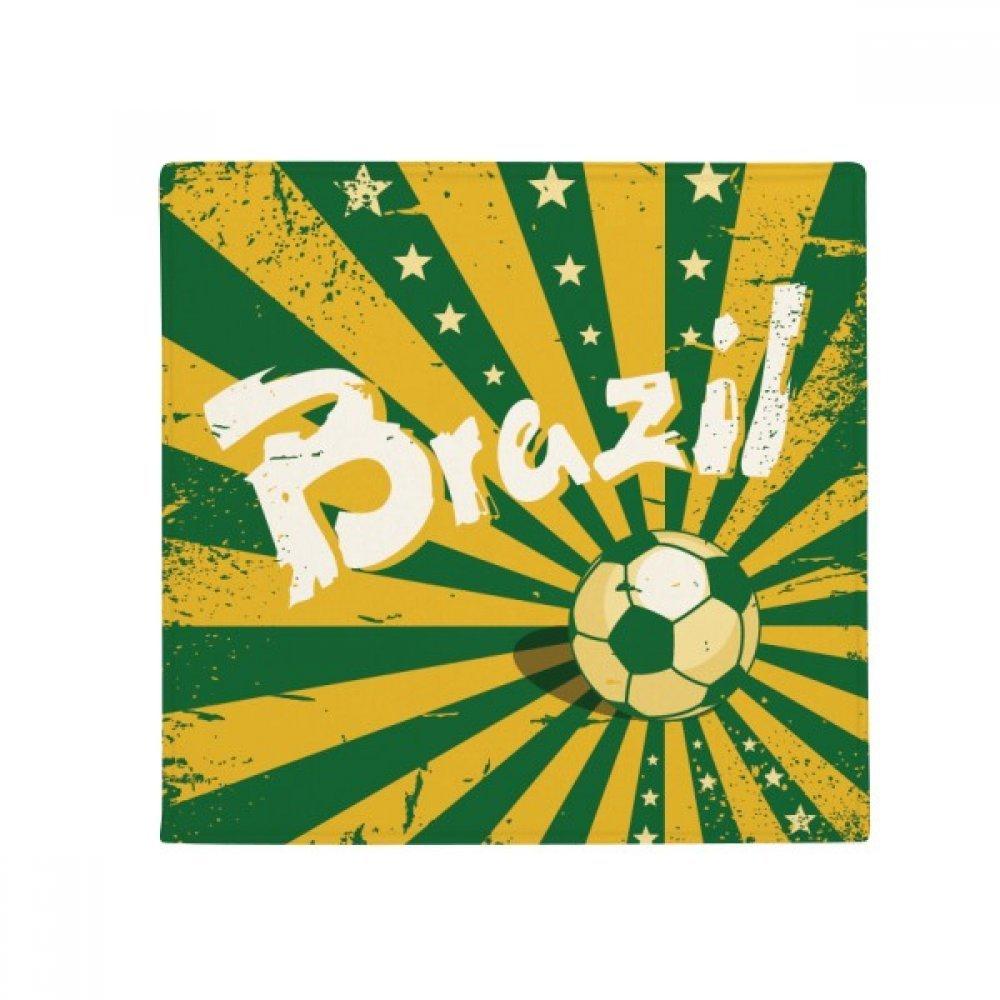 DIYthinker Soccer Yellow Green Brazil Brazil Culture Anti-Slip Floor Pet Mat Square Home Kitchen Door 80Cm Gift