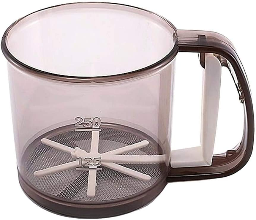 Katyma Sieve Baking Sieve Cup Flour Sifter with Hand Press ...