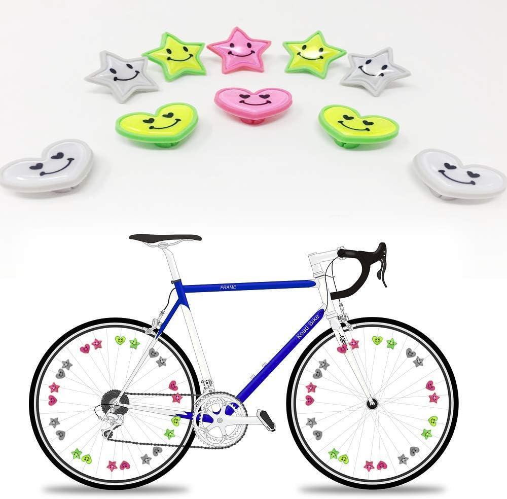 RABONO Radios de Bicicleta Reflectantes Decoraciones Hot Wheels Advertencia Reflectante Equipo de conducción Nocturna: Amazon.es: Deportes y aire libre