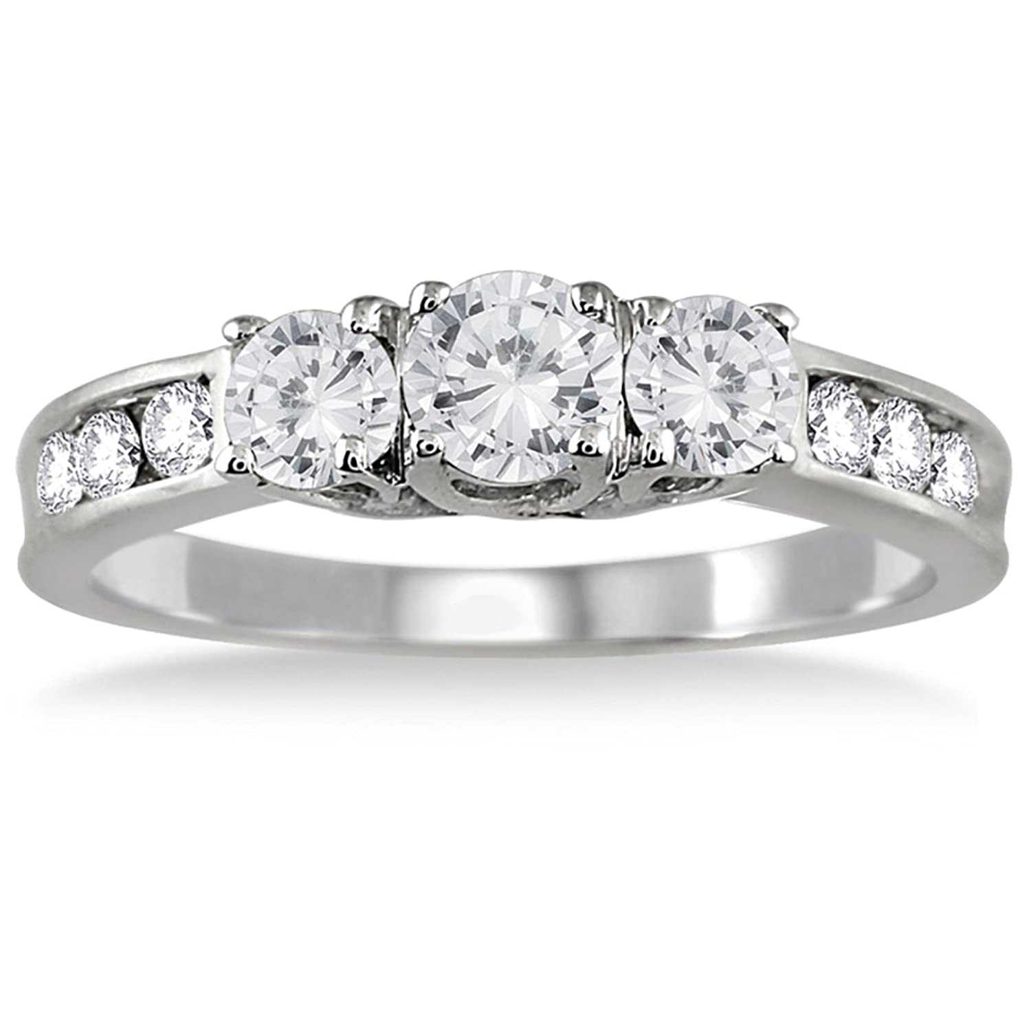 ring diamond jewelry carat round jeweler in ben platinum baguette bridge