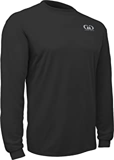 product image for PT-803L-CB Adult Men's and Women's Loose Fit Long Sleeve Workout Shirt-Made with Moisture Management and Anti-Microbial Performance Fabric (XX-Large, Black)