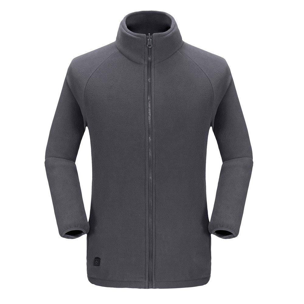 Moonbasa梦芭莎 Women Heated Windbreaker Jacket /& Detachable Liner Hoodie for Hiking Camping Light Green X-Large