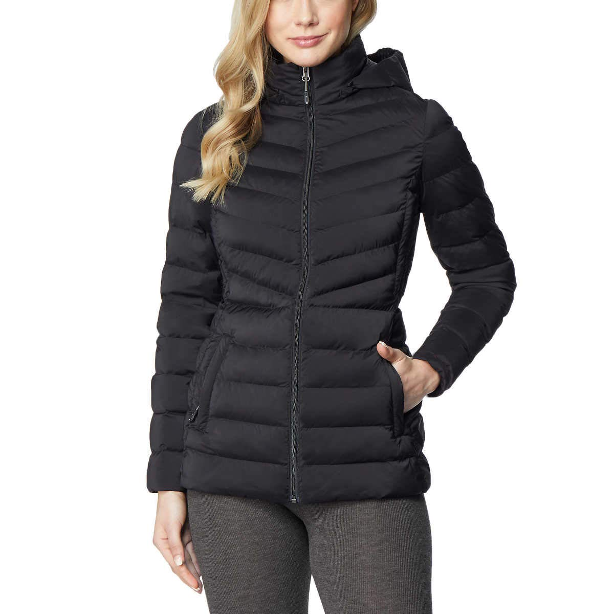32 Degrees Heat Womens Hooded 4-Way Stretch Jacket