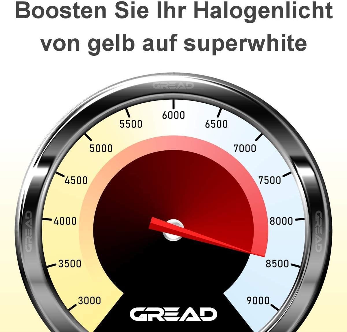 avec certification/E Bo/îte dampoules halog/ènes H8 35/W 8/500/Kelvin super blanc ajustement parfait et longue dur/ée de vie aspect x/énon