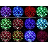 Solar Power Mosaic Glass Pink Ball Garden Light , Color Changing Multi-color Yard Pink Light