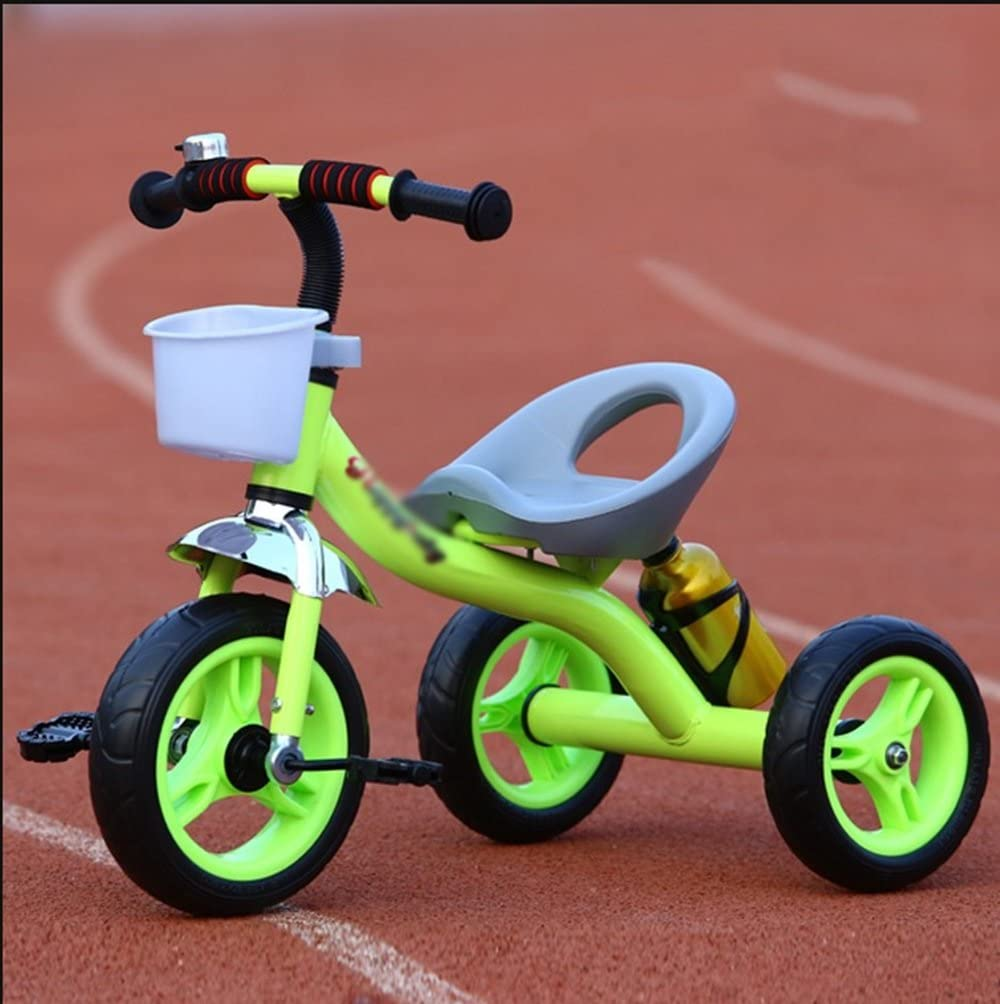 DONG YUN HAI SHOP Pedal Triciclo Infantil Simple Light Boy Girl Baby Ride Car Bike 2-5 Years Old Half (Color : Green)
