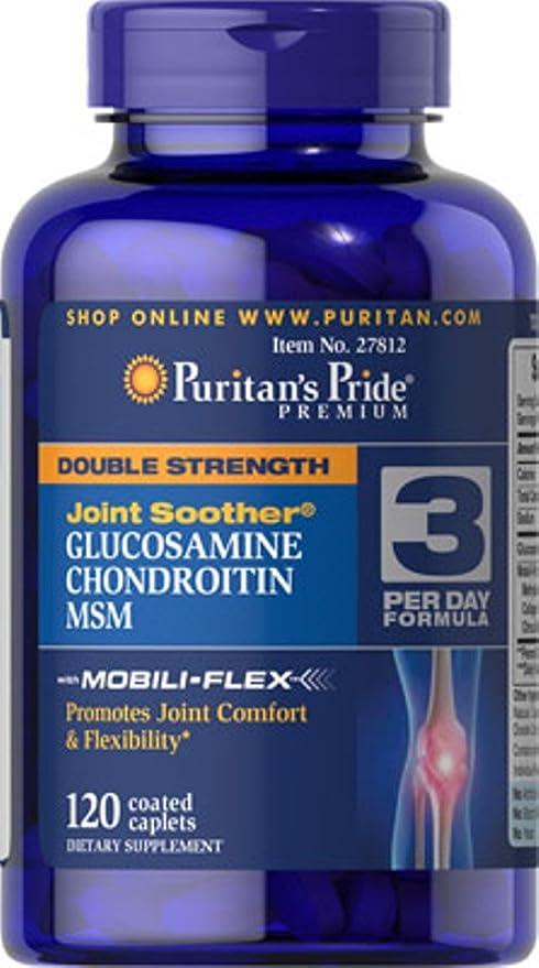 Glucosamina Condroitina MSM Doble Potencia 120 Tabletas.