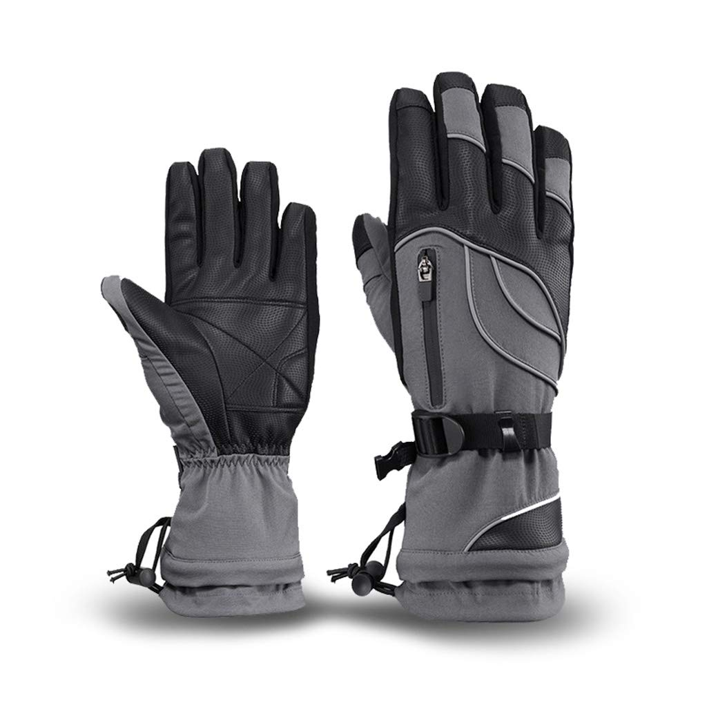 ZDYLL -30 Ski Gloves for, Warm Winter Snowboard Gloves Insulated Gloves Waterproof Windproof Gloves with Adjustable Cuffs, Best for Riding,Skiing and Other Winter Sports (Color : Gray, Size : XL) by ZDYLL