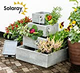 Ambiente 4-Tier Cascade Solar Water Feature Planter