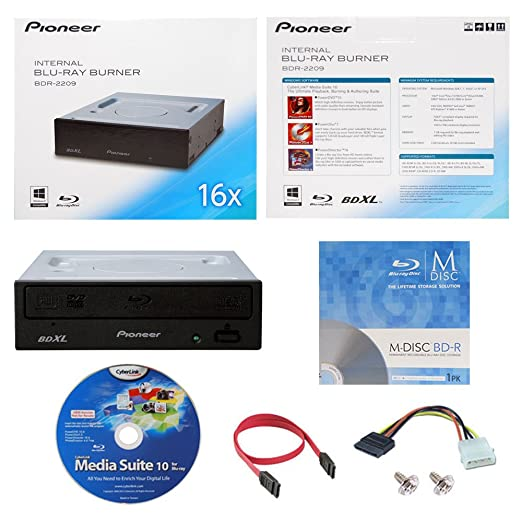 6 opinioni per Pioneer BDR-2209 16X interno Blu-ray BDXL DVD CD Burner Writer in scatola al