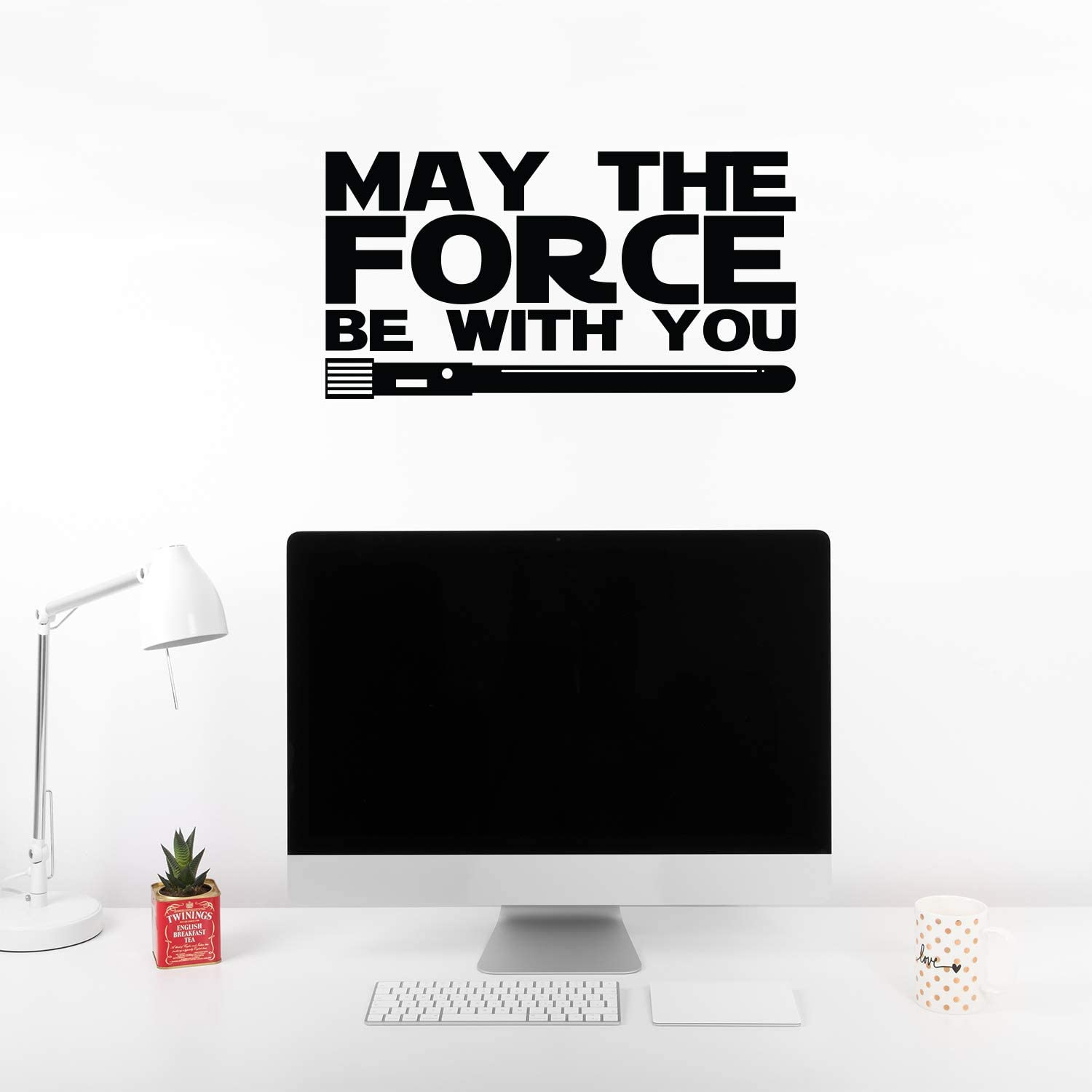 Vinyl Wall Art Decals - May The Force Be with You - 12