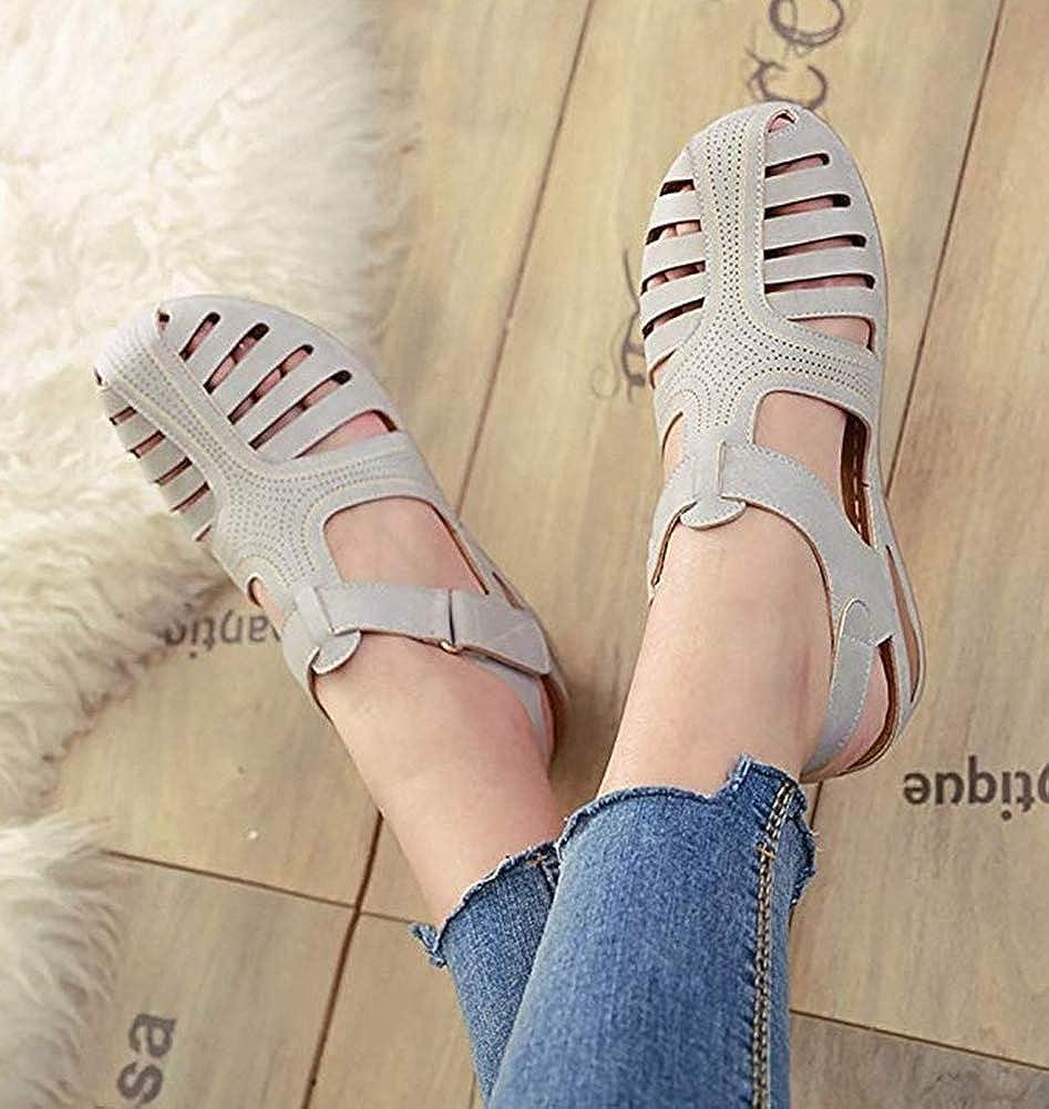 DecoStain Women Summer Wedge Sandals Retro Walking Shoes