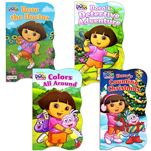 Dora the Explorer Baby Toddler Board Books - Set of Four