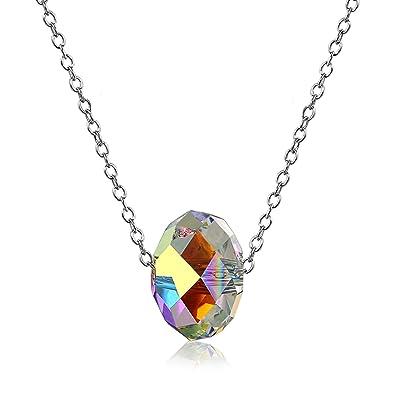 nuovo prodotto 1db1e a9d54 Aroncent donna collana cristallo swarovski elementi pendente ...