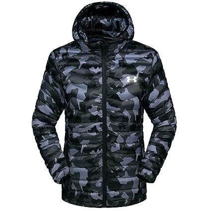 6ee97638b352 Amazon.com  Men s Down Jacket Camo Winter Hooded Workwear Jacket ...