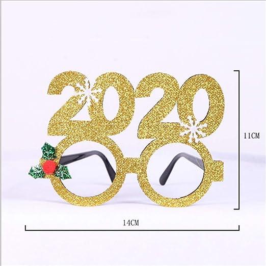 SHJIA Feliz Año Nuevo Decoración Feliz Navidad Fiesta Gafas Santa ...