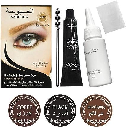 Pestañas semitemporales, tinte para cejas, tinte de gel para los ojos, cejas, kit de pinceles para máscara de pestañas, impermeable, resistente al ...