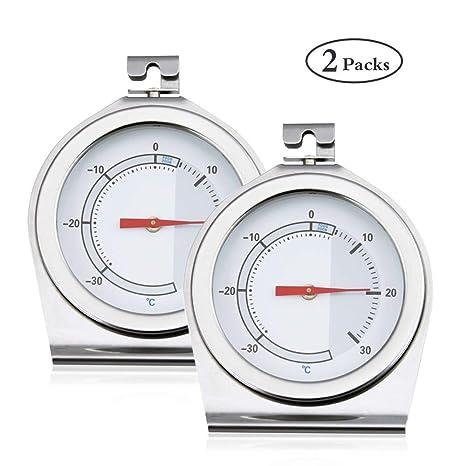 Bestcool Termómetro para refrigerador, paquete de 2 Termómetro ...