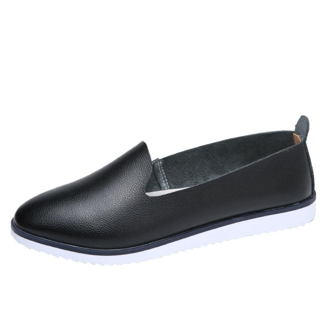 Neartime Promotion❤️Women Shoes, 2018 Fashion Flats Leather Shoes Shallow Slip On Leisure Lazy Comfortable Sandals