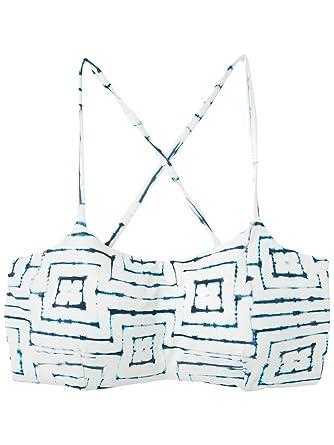 842f3aa69135b Amazon.com  RVCA Tie Dye Tile Bandeau Bikini Top  Clothing