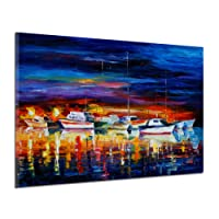 Kaimus Pittura a Olio Frameless Computer Inkjet Cruise Ship Paesaggio Frameless Pittura murale Pittura ad Olio Paesaggio Pittura ad Olio