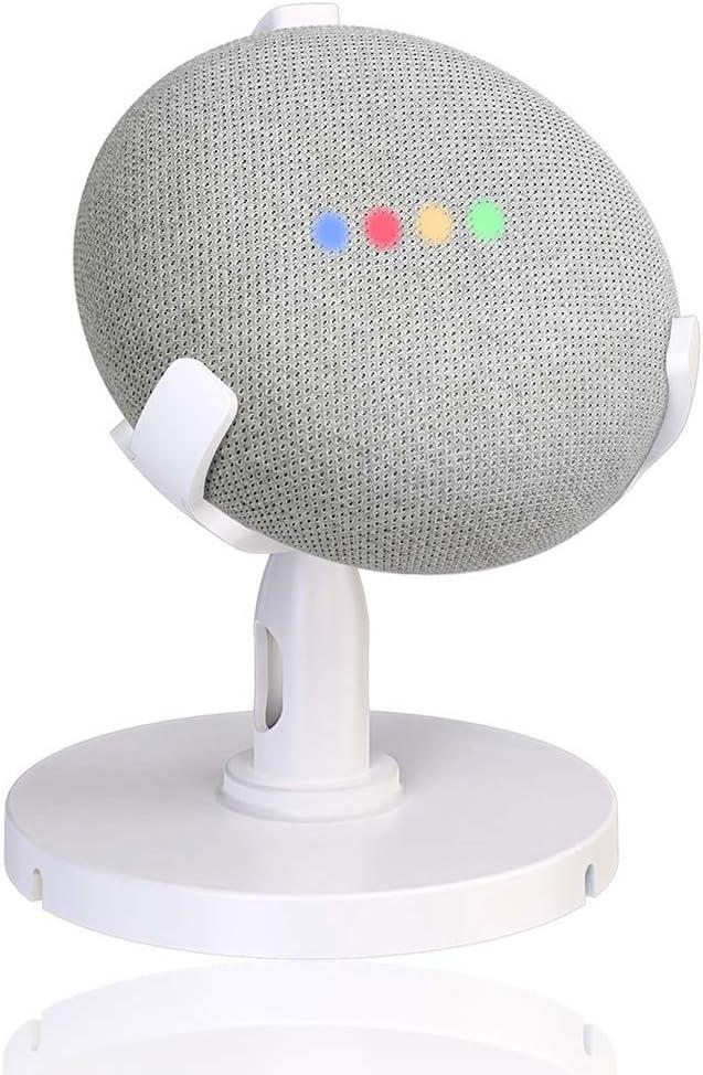AutoSonic Stand for Google Home Mini, Table Stand Accessories for Google Home Mini Smart Speaker, 360 Degree Rotation Swivel,Tilt Function, Anti-Slip Base, 2019 Release