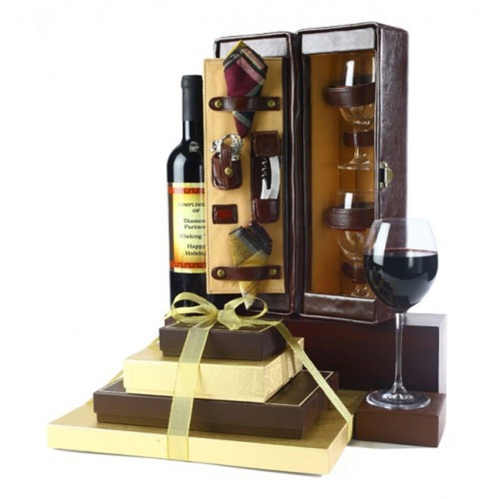 Kosherline Executive Chocolate Tower & Wine Kosher Gift Set by Kosherline
