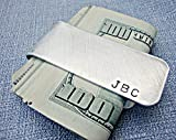 Personalized Aluminum Money Clip with Initials