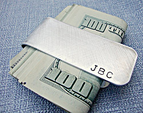 Personalized Aluminum Money Clip with Initials by Three Little Pixies