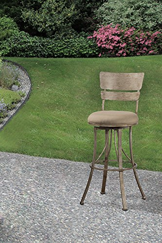 Hillsdale Furniture 6318-830 Wakefield Indoor Outdoor Bar Stool, Height, Champagne