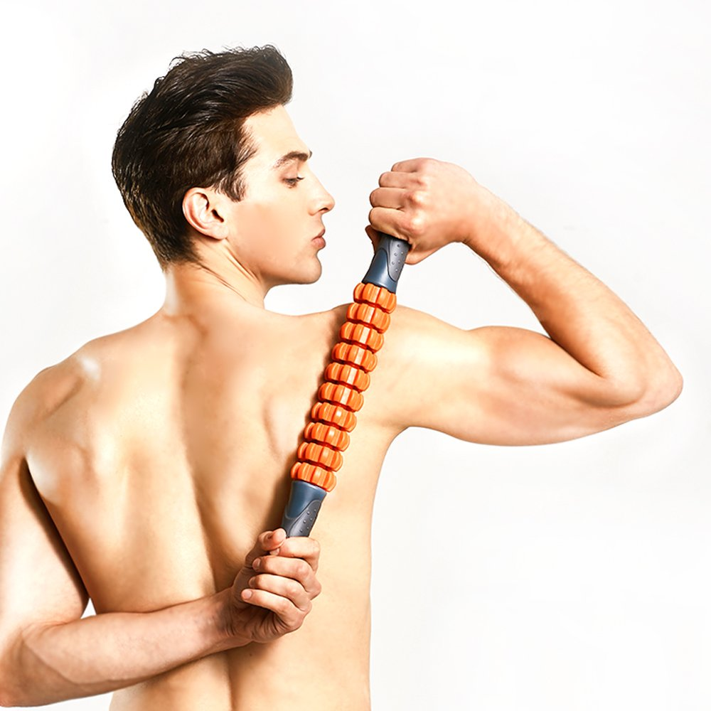 Kamileo Muscle Roller, Massage Roller for Relieving Muscle Soreness Cramping Tightness, Help Legs Back Joints Recovery (Workout Poster Included). by Kamileo (Image #4)