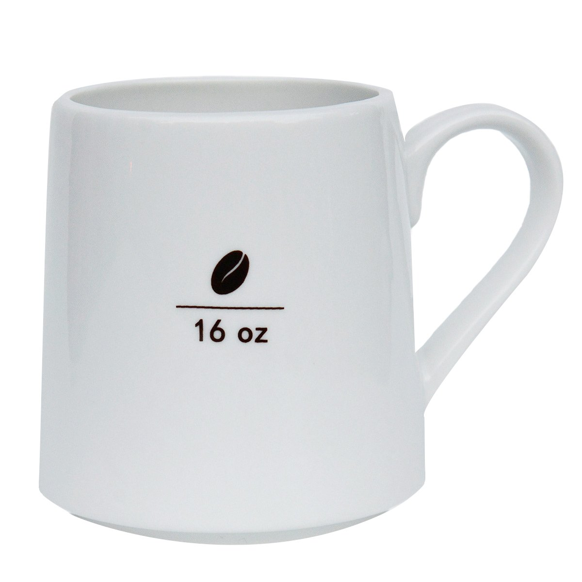 Mecraft -16 OZ Ceramic coffee Mug with coffee bean pattern,Smooth white layer with brown coffee bean pattern SYNCHKG105213