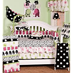 Cotton Tale Designs Hottsie Dottsie 8 Piece Girl's Crib Bedding Set