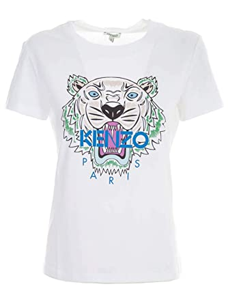 96da39625ffd Image Unavailable. Image not available for. Color: Kenzo Women's  F952ts7214yb01 White Cotton T-Shirt