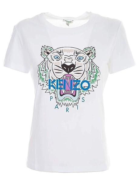 33ba9e3fa Kenzo Women's F952TS7214YB01 White Cotton T-Shirt: Amazon.co.uk: Clothing