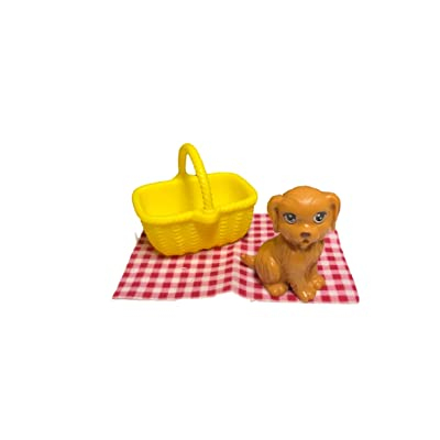 Barbie Camping Fun Accessory Pack Puppy Picnic 4 Pieces: Toys & Games