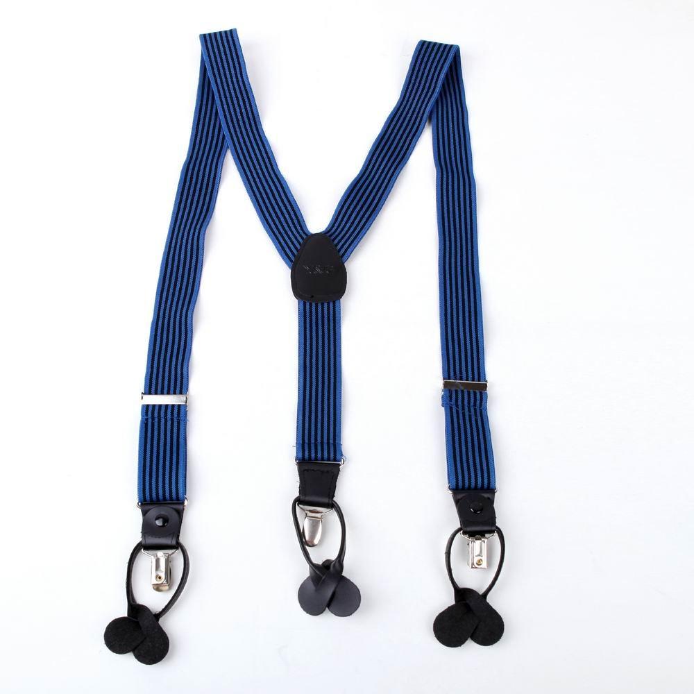 SP2011 Formal Presents Idea Black Stripes Elastic Adjustable For Father Suspender Holiday Perfect Fine Y-back By Y&G